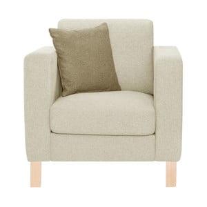 Kremowy fotel z beżową poduszką Stella Cadente Maison Canoa