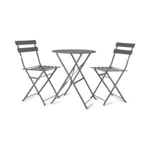 Stół ogrodowy i 2 krzesła Rive Bistro Grey