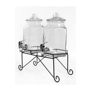 Zestaw 2 dużych naczyń na napoje na stojaku Cifti 2x2 l
