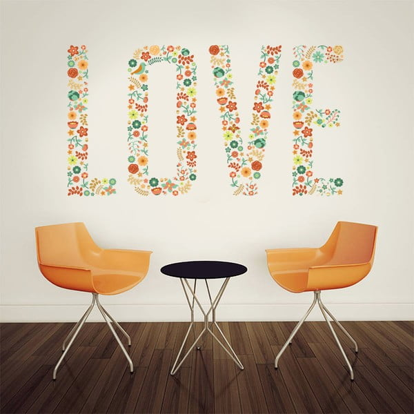 Naklejka na ścianę Love, 60x90 cm