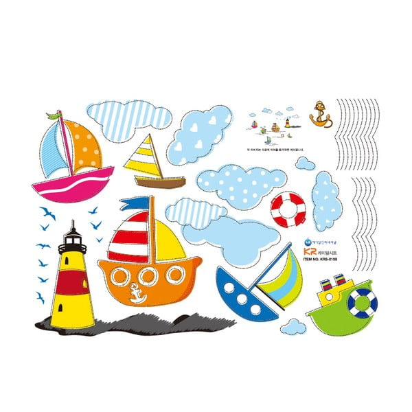 Naklejka Fanastick Sea and Boat