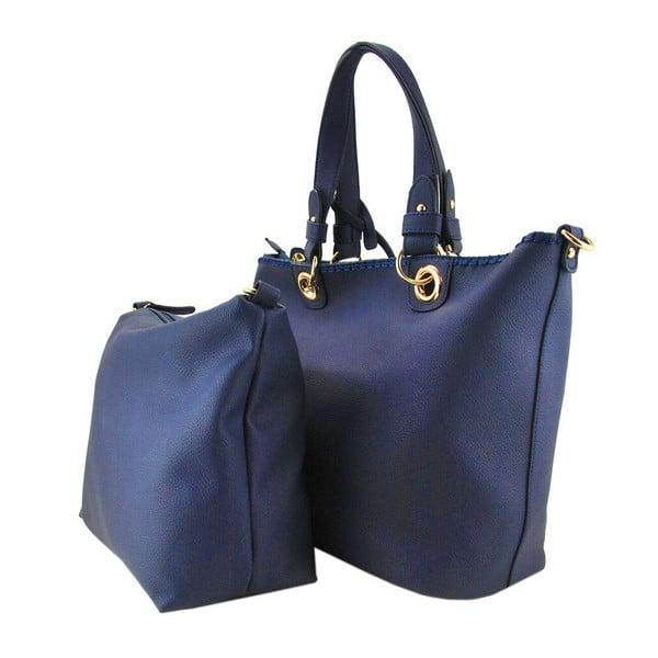 Skórzana torebka Ginny Navy