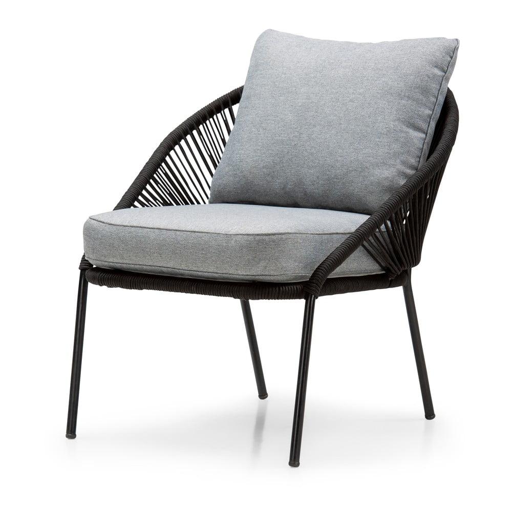 Czarne krzesło ogrodowe Le Bonom North