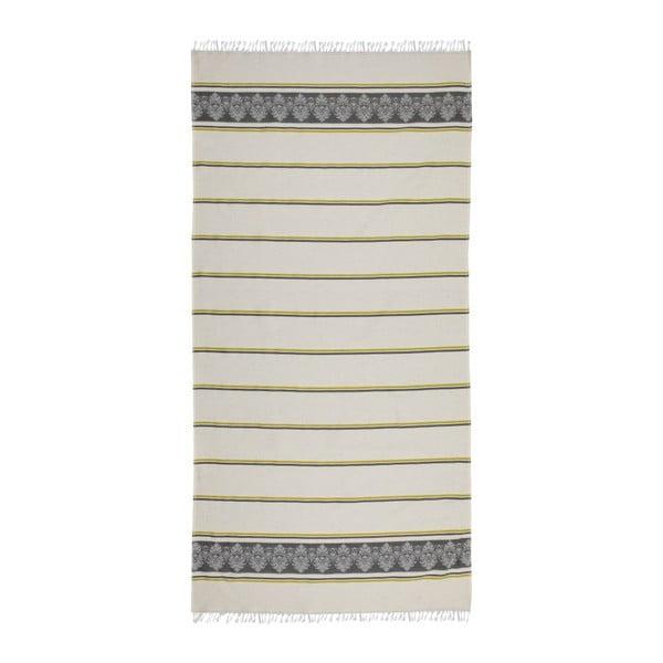 Ręcznik hammam Loincloth Dark Green Stripe, 80x170 cm