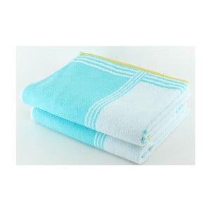 Komplet 2 ręczników Blue Line, 70x140 cm