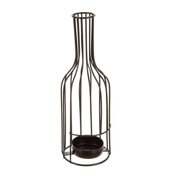 Świecznik Glamour Bottle, czarny