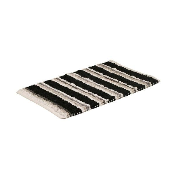 Dywanik łazienkowy Noir Stripe, 50x80 cm
