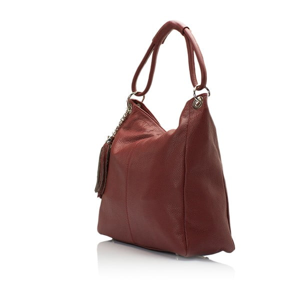Bordowa torebka skórzana Lisa Minardi Herta