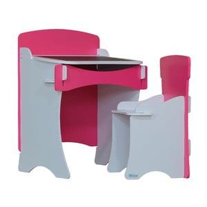 Biurko i krzesło dziecięce Pink