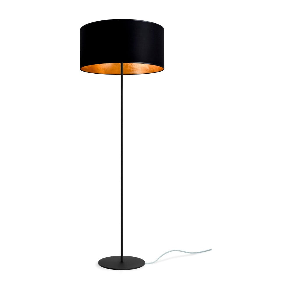 Czarno-złota lampa stojąca Sotto Luce MIKA Elementary Xl 1F