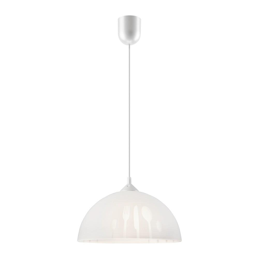 Biała lampa wisząca Lamkur Forks