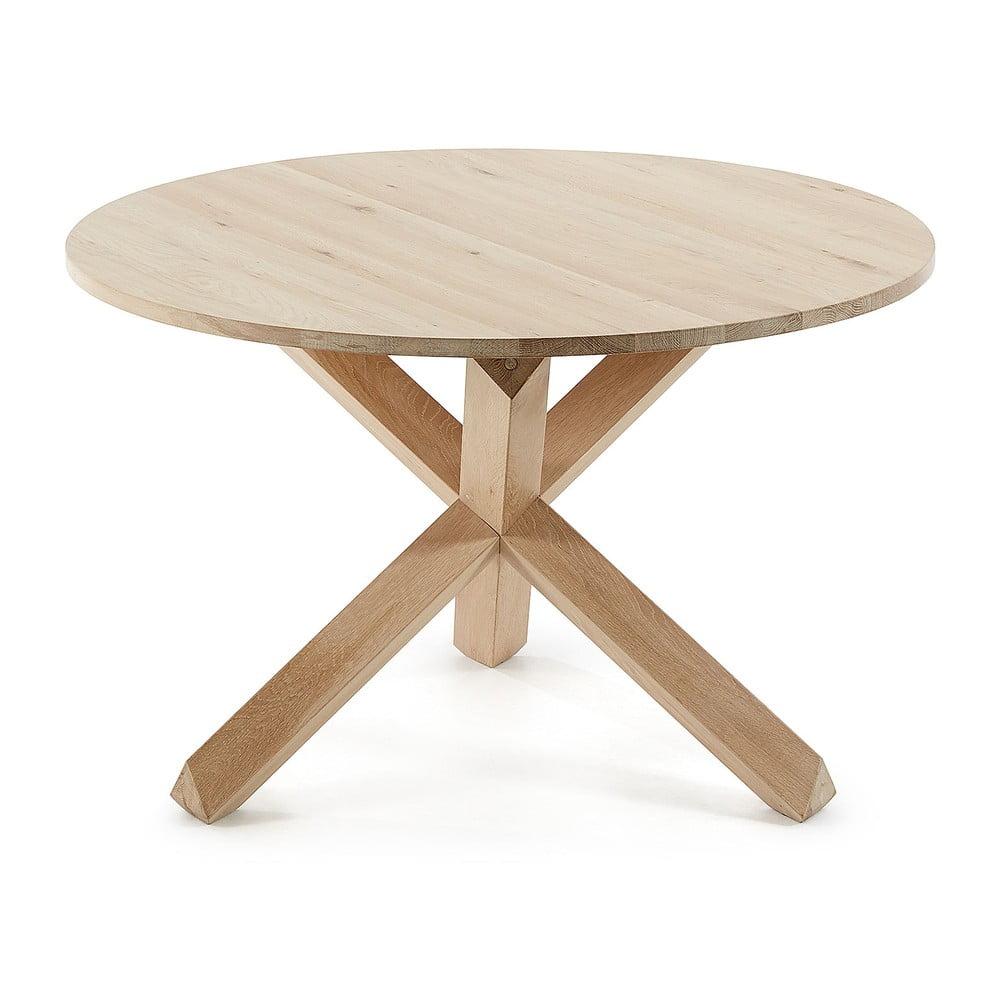 Stół z drewna dębowego La Forma Nori, ø 120 cm