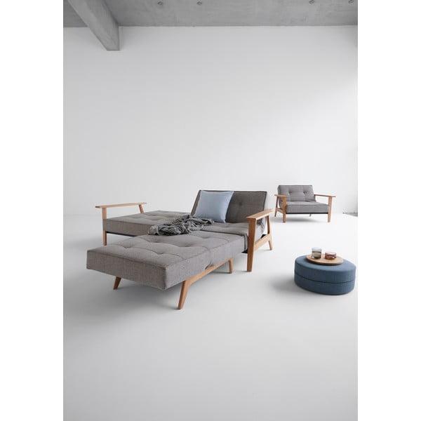 Szara sofa rozkładana z podłokietnikami Innovation Splitback Frej