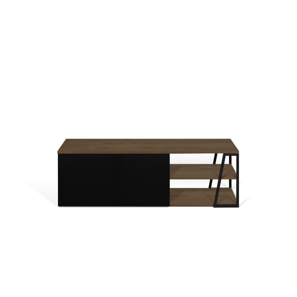 Czarny stolik pod TV TemaHome Albi