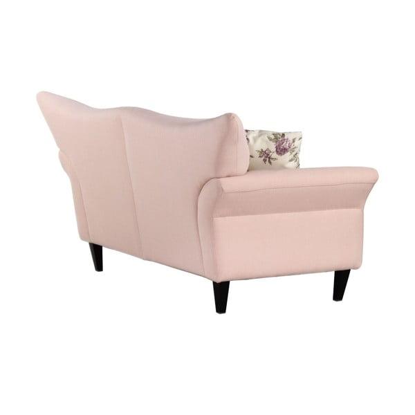 Jasnoróżowa   sofa dwuosobowa Wintech Carmen Portland