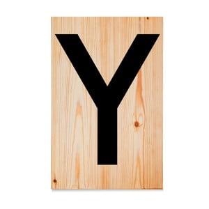 Drewniana tabliczka Letters Y