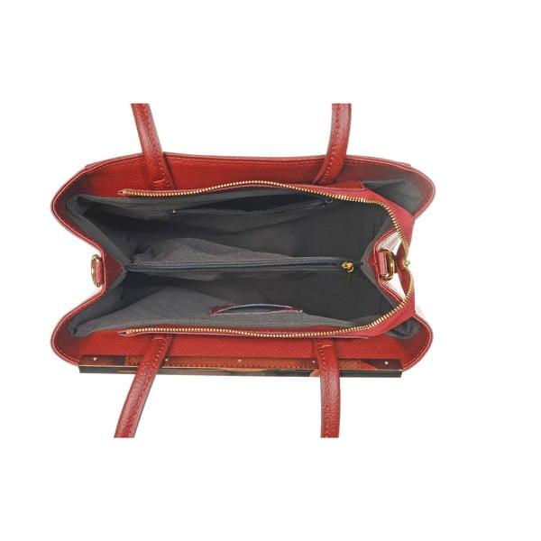 Skórzana torebka Como Red