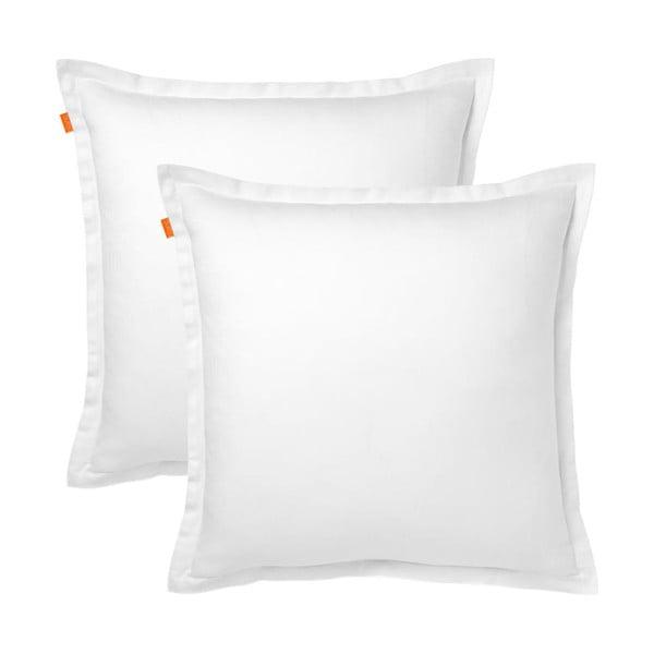 Zestaw 2 białych poszewek na poduszki Blanc Basic, 60x60 cm