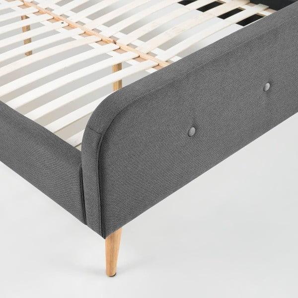 Łóżko Agnes, 140x200 cm, szare