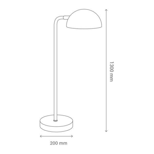 Czarna lampa stołowa SULION Mileto