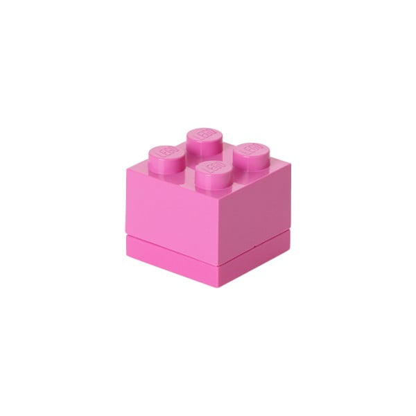 Różowy pojemnik LEGO® Mini Box