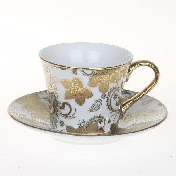 Zestaw filiżanek Coffee Gold Flowers, 6 szt.