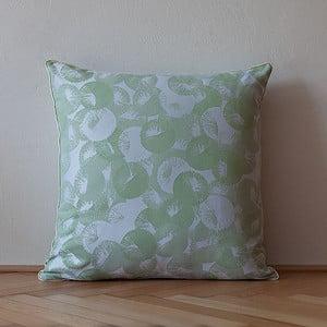 Poduszka z wypełnieniem Light Green Rings, 50x50 cm