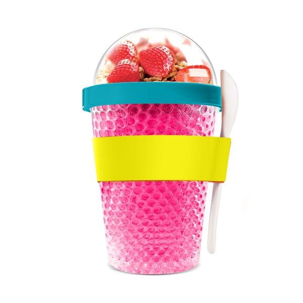 Kubek termiczny na jogurt Chill Yo 2 Go, różowy