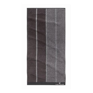 Ręcznik Tom Tailor Stripes Dark Grey, 50x100 cm