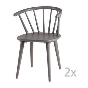Zestaw 2 szarych krzeseł sømcasa Anya