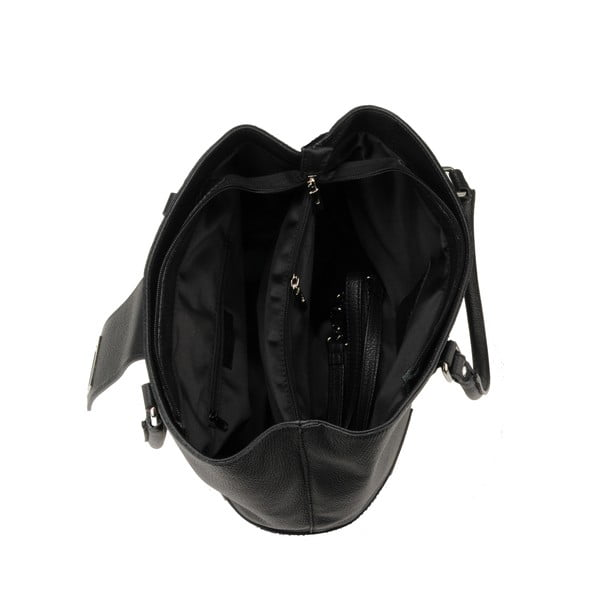Skórzana torebka Emilio Masi Tabit Noir