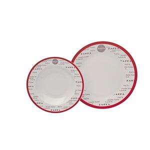 Komplet porcelanowych talerzy Pasta, 12 szt.