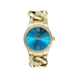 Zegarek damski Brillante Gold/Blue Lagoon, 38 mm