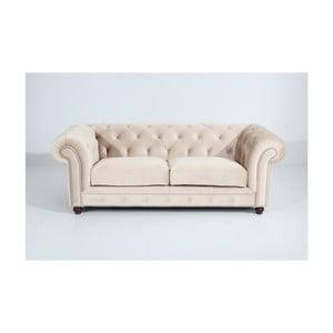 Kremowa sofa trzyosobowa Max Winzer Orleans Velvet