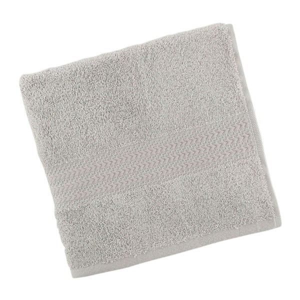 Szary ręcznik bawełniany Amy, 50x90 cm