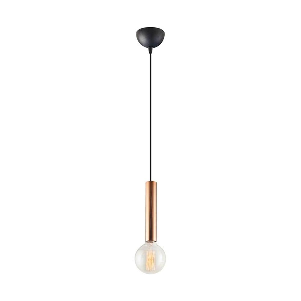 Lampa wisząca z elementami w kolorze różowego złota Homemania Tubo Uno