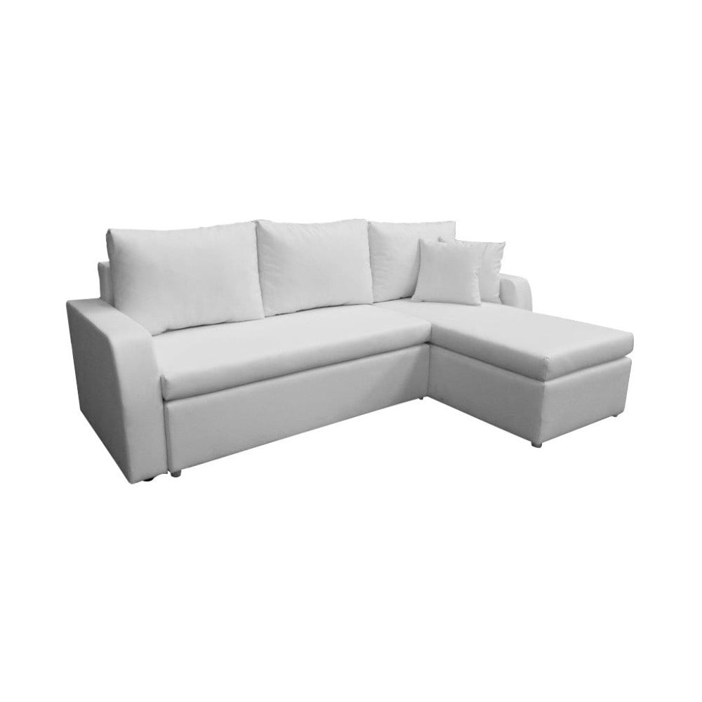 Poważne Biała sofa rozkładana ze skóry ekologicznej 13Casa Terry | Bonami WX99