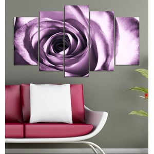5-częściowy obraz Fioletowa róża