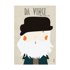 Plakat I want to be like Da Vinci