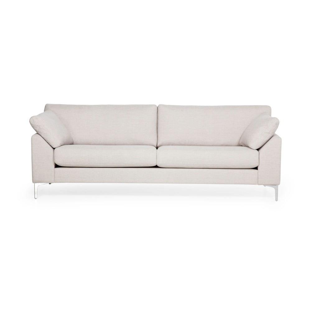 Kremowa sofa 3-osobowa Scandic Garda