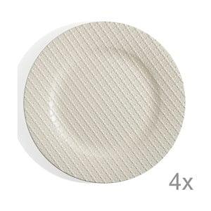 Zestaw 4 talerzy z tworzywa sztucznego Ivory