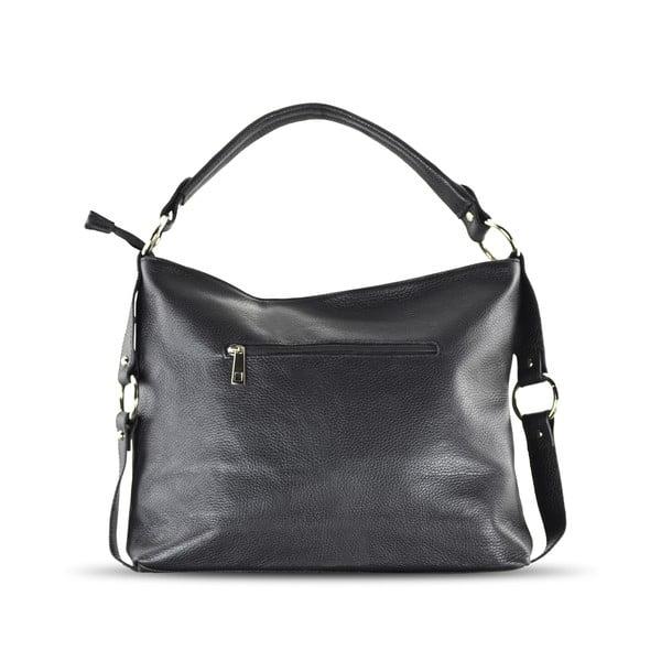 Skórzana torebka Anne, czarna