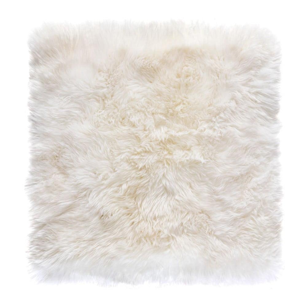 Biały Dywan Kwadratowy Z Owczej Wełny Royal Dream Zealand 70x70 Cm Bonami