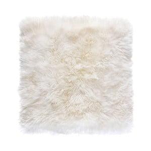 Biały dywan kwadratowy z owczej wełny Royal Dream Zealand , 70x70cm