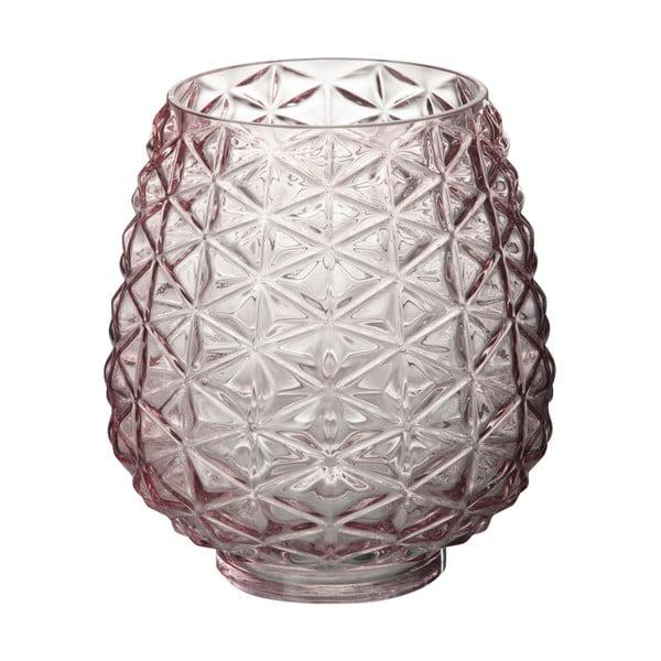 Szklany   świecznik Tria, wysokość 22 cm