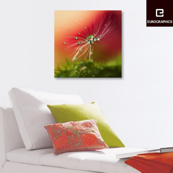 Szklany obraz Red Morning, 50x50 cm