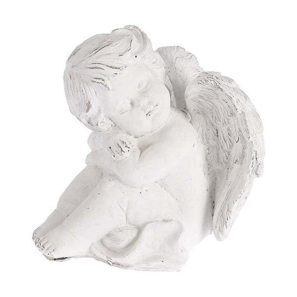 Aniołek ceramiczny, 17x18 cm, biały