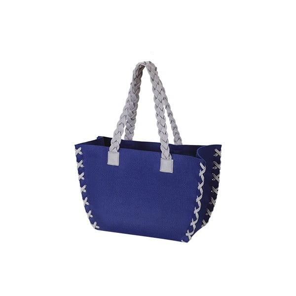 Mała filcowa torba, niebieska