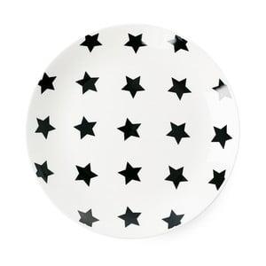 Talerz ceramiczny Miss Étoile Black Stars, ⌀ 17 cm