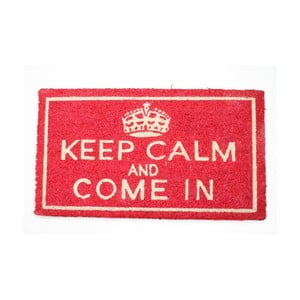 Wycieraczka Keep Calm and Come In Red, 40x70 cm